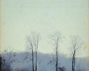 """Nature photography. """"Winter..."""" Landscape. Fine art photography print. 8x8 (20x 20cm)"""