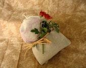 Dream Pillow herbal dream pillow ORGANIC HERBS lavender mugwort peppermint dream pillow set of 2