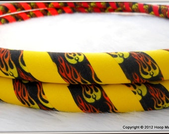 Up In FLAMES UltraGrip Hula Hoop - Design Your Own Fire-Printed Travel Hoop - Choose From Over 40 Base Colors.