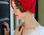 Romantic Red - red felt cloche