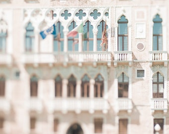 Venice Photography - Il Palazzo Guistinian, Gothic Palace, Grand Canal, Italy Travel Photograph Wall Decor