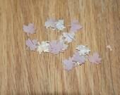 Birch Bark Confetti Maple Leaves 50