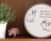 "Middle School Bunnies Hand Embroidery - 7"" Hoop"