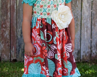 Girls PDF Pattern Boutique Bodice Ruffle Dress Juvie Moon Designs LIS Size 3 month to 12 years
