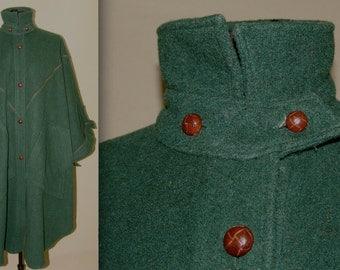 Vintage CAPE COAT, Gale Gould for Foxrun by Lifo Industries inc., 1970s