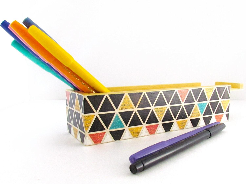 Geometric Pencil Box Case Triangular - 201.8KB