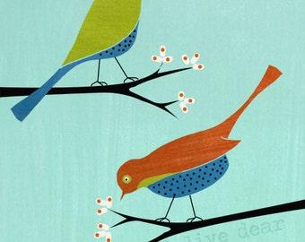 blossom birds fine art reproduction print
