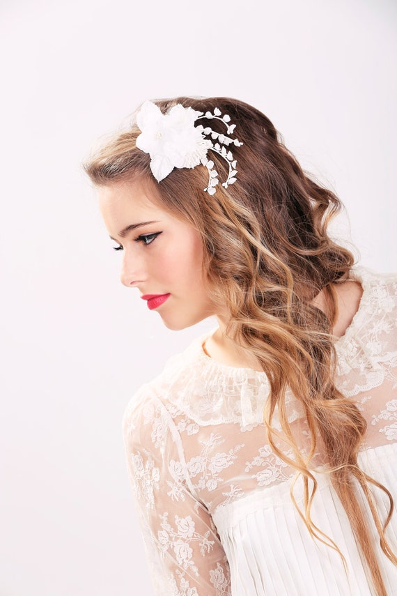 wedding hair flower clips white bridal flower clip wedding hair accessories wedding 9686