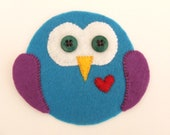 "felt applique, felt owl 4"" felt animal, big felt owl applique"