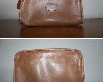 Vintage Tan Crossbody Bag • Champane Leather CrossBody Purse