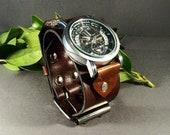 Leather Watch-Steampunk Watch-Mechanical Watch-Mens Watch-Women Watches-Skeleton Watch Men-Mens Wrist Watch-Mens Watch Leather-Gifts-Watches