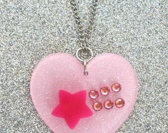 Fairy Kei Pastel Shooting Star Necklace
