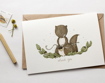 Thank You, Squirrel - Greeting Card