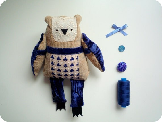 Berenice -  Little  Owl, soft art toy by Wassupbrothers