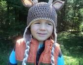 Deer Hat- buck- antler hunting antlers whitetail 4 pointer- newborn to 18 month sizes