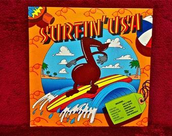 SURFIN' USA - 1982 Vintage Vinyl Record Album