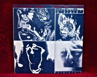 The ROLLING STONES - Emotional Rescue - 1980 Vintage Vinyl Record Album...Includes Giant 24X60 Poster