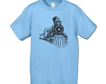 Back to School - Train T-Shirt - Train Enthusiast - Train Themed Birthday Party - Vintage Feel Train T-Shirt for Infants, Kids, and Adults