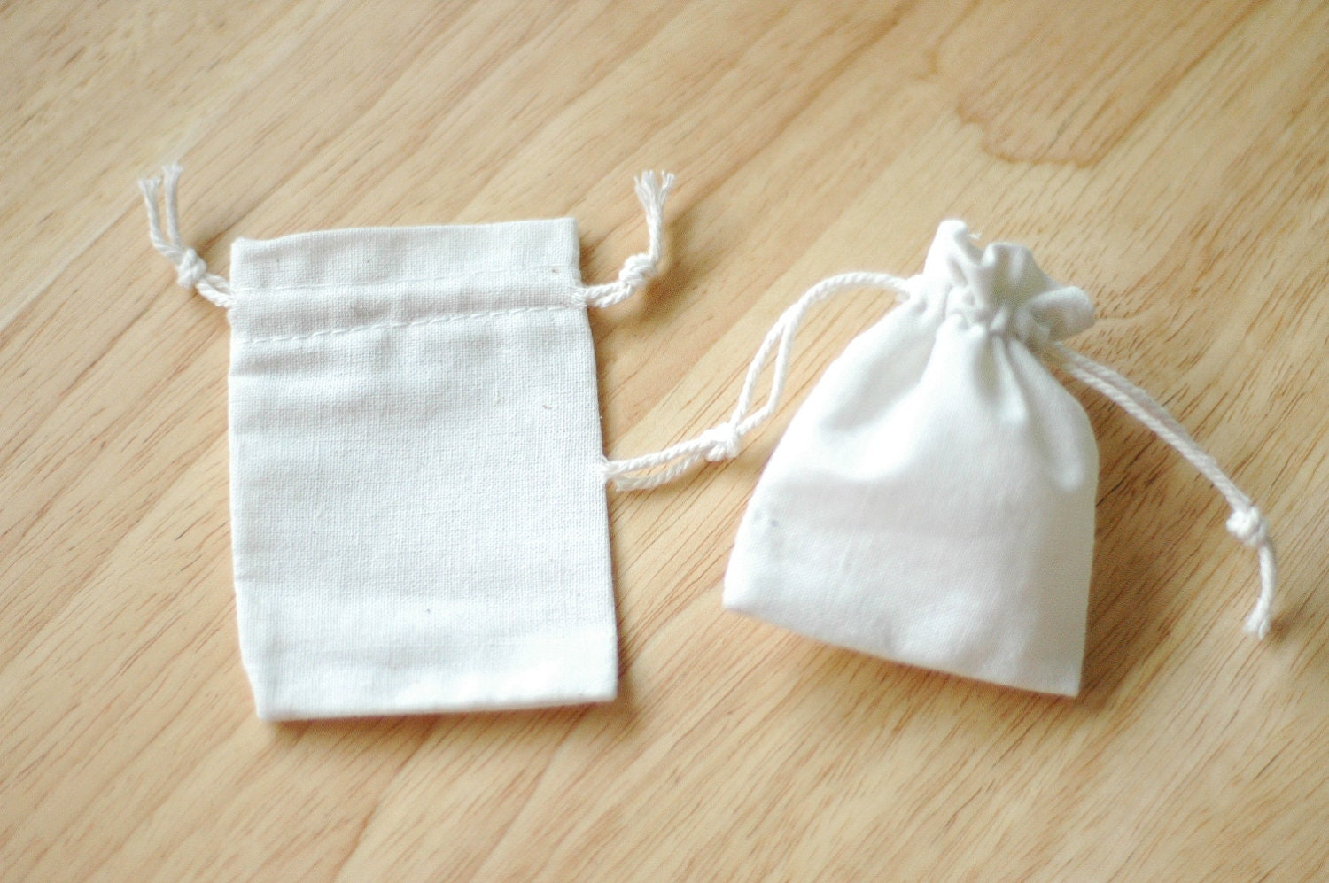 Extra Small Drawstring Bags Cotton Canvas Set of 12