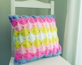 Geometric pattern Cushion knit pattern/ tutorial PDF - knitting decorative pillow - Instant Download
