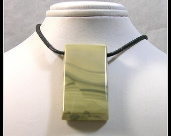 Rich Cream Colored Focal Bead Made From Willow Creek Jasper