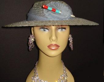 Vintage 1930s Hat .  Old Hollywood Garden Party Mad Men Garden Avant Garde Party Art Deco Art Nouveau Steampunk Femme Fatale