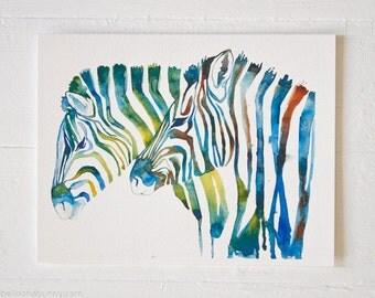 PRINT / safari art, safari nursery, zebra nursery, zebra print, watercolor, animal art, animal niresery, animal decor