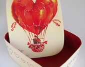 All you need is love - Decoupaged Jewelry Trinket Box OOAK