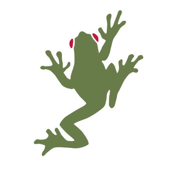 Tree Frog Stencil For Painting Kids Or Baby Room Mural