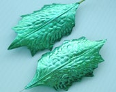 Metallic Paper Craft Leaves Bright Green Foil DIY Spring Wreath Garland Millinery Flower Supplies O LG.