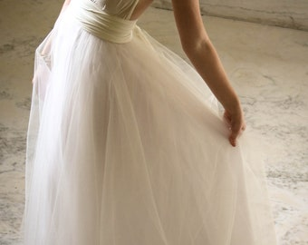 "Royal Tulle Ballgown  ""Infinity"" Wedding Dress - Ivory"