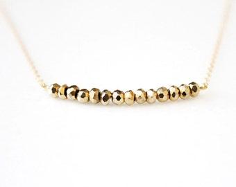 Gold Sparkle Necklace