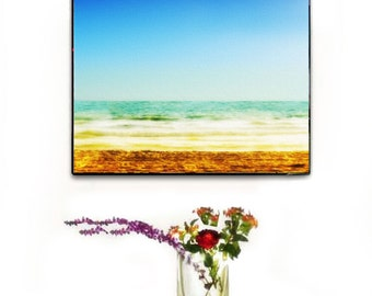 Beach Decor Wall Art, Ocean Canvas Wall Art, Abstract Ocean Canvas Large, Beach Photography Wall Art