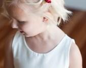 The Rosehip hair clip : Flower girl hair clip, bridesmaid hair accessories, flower girl accessories.