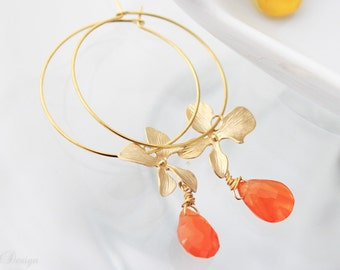 Orange Blossom Hoops