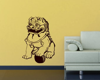 Chinese Lion wall decal- Chinese guardian Lion, Shishi, Foo Dog