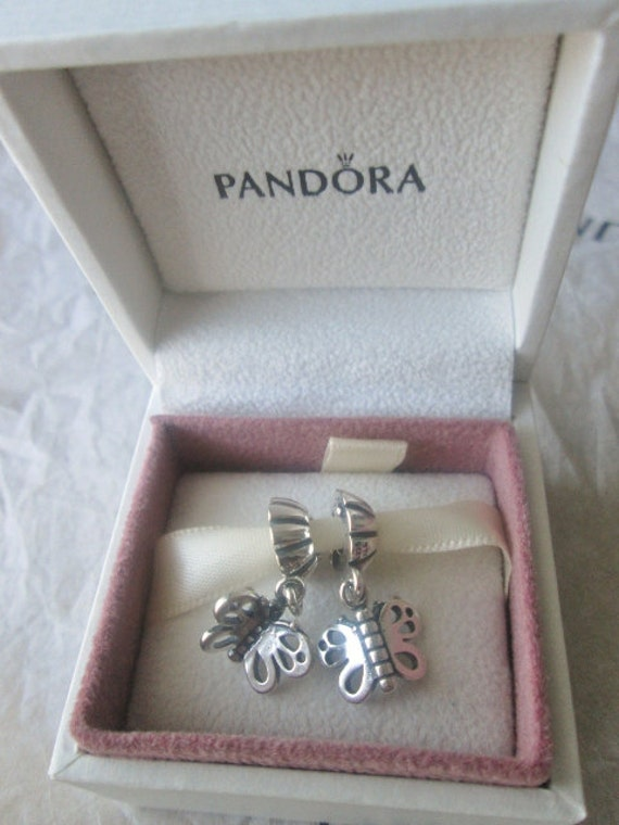 genuine pandora best friends butterfly charm ale 925