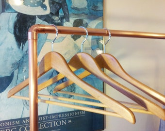 Industrial Copper Clothing Rack