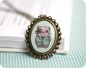 Bear necklace - Steampunk jewelry - Free shipping / N20