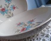 2 vintage Pink Floral Steubenville Bowls Fairlane shabby chic serving Bowls