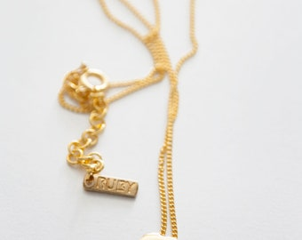 Domed mini Africa charm necklace