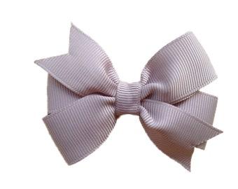 3 inch gray hair bow - gray bow, grey bow, 3 inch bows, girls hair bows, girls bows, toddler bows, baby bows, pinwheel bows