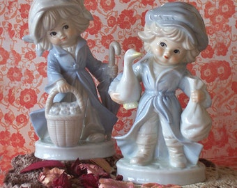 SALE  Exquisite Pair of Boy and Girl Figurines from West Germany
