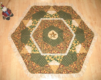 Christmas Quilted Tree Skirt Golden Pears 28