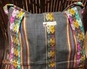 Gray Aguayo Fabric Handmade Bag