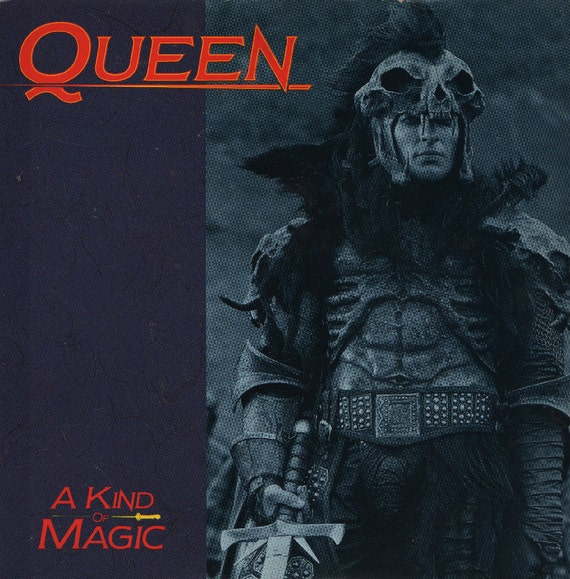 "QUEEN A Kind Of Magic 1986 Uk 7"" 45 rpm Vinyl Single Record Highlander rock pop 80s Freddie Mercury queen7 Free S&h"