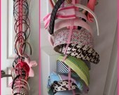Hanging Headband Organizer with Elastic - 342 color combinations