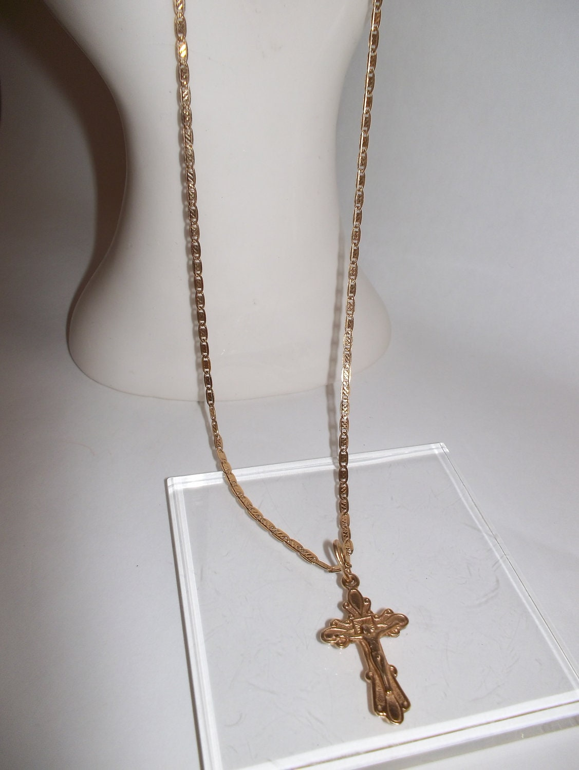 15 Inch White Gold Chain Necklace