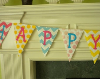Birthday Banner Chevron