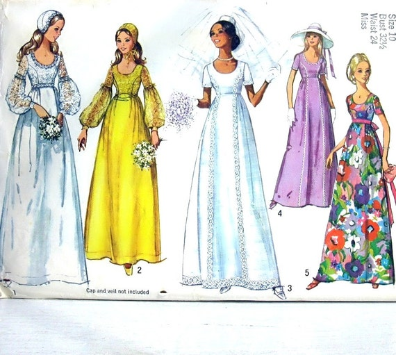 Items Similar To Simplicity Pattern 1971 Vintage Wedding
